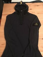 Stone Island Quarter Zip Hooded Top Size Large