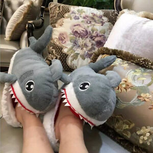 Funny Unisex Shark Warm Cotton Soft Plush Slippers Indoor Slippers Novelty Gifts