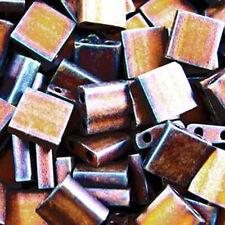 TL 2005  Matte Metallic Copper Tila Beads10 grams Glass 5mm 2 hol