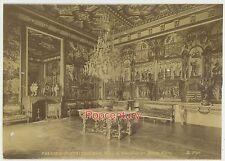 Vintage 1880s France Paris Albumen Photograph Reception Room Fontainebleau