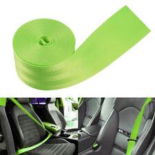 Car Seat Belt Safety Strap Polyester Fiber Green For Jeep Wrangler Suzuki Jimny