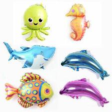 Sea Fish Octopus Dolphin Aluminum Foil Balloons For Birthday Party Decor Toys