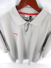 PUMA Medium Mens Gray Short Sleeve Polo  A-80