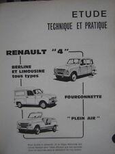 rare revue technique RENAULT  4L + FOURGONNETTE + PLEIN-AIR  E.O 1970 / français