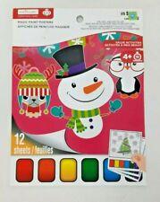 Christmas Theme Magic Paint Posters Color Art Creatology Noel Animals Snowman 4+