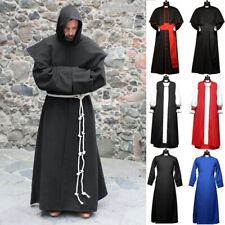 Wizard Costume Halloween Cosplay Medieval Robe Priest Vintage Long Coat Clothing