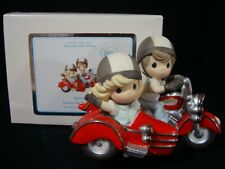 New ListingPrecious Moments-Harley Couple Riding Motorcycle/Sidecar-Foreve r By Your Side