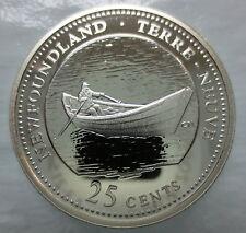 CANADA 1867-1992 ANNIVERSARY 25¢ NEWFOUNDLAND SILVER PROOF QUARTER COIN
