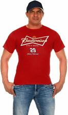 Men's Kevin Harvick Nascar T-shirt Red Budweiser Racing King of Beers Logo