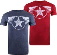 Marvel Captain America Logo Star Shield - Mens T-Shirt Tee - Sizes S-XXL