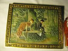 Antique Bradley & Hubbard Scenic Park Cast Iron Garden Wall Art Plaque Charger