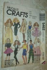 Vintage 1991 McCall's CRAFTS Pattern 5462 Sewing DOLL CLOTHES Ken & Barbie Size