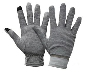 Adidas Climawarm Knit Gloves Fleece Gray Running Sports GYM Touch Glove DM4413