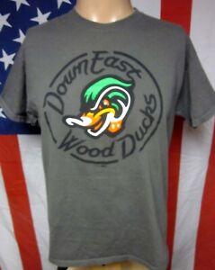 DOWN EAST WOOD DUCKS Kinston tee Carolina League minor baseball med T shirt