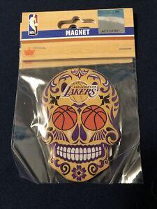 Los Angeles Lakers Sugar Skull Magnet NBA FINALS 2020