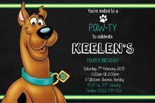 Birthday Invite Invitation Boys Girls Scooby Doo Dog Mystery Kids Party Children