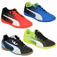 Boys Football Trainers PUMA Kids Astro Turf Evo Speed Universal Sports Shoes New