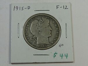 FINE 1915-d Barber Half Dollar w #34