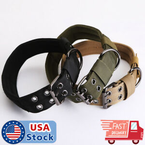 Nylon Dog Training Collars Canine Military Tactical Collar for K9 Medium US