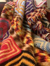 afgan blanket multicolored differnt prints
