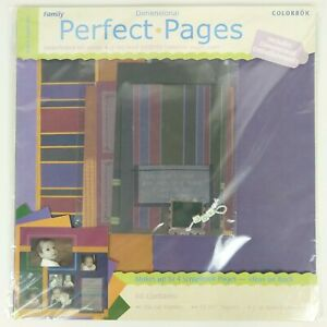 Scrapbook Kit Perfect Pages Colorbok 12x12 Paper 12 Piece Family Friend Heritage