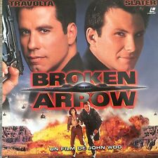 LASERDISC - BROKEN ARROW WS VF PAL -John Travolta, Christian Slater, JOHN WOO