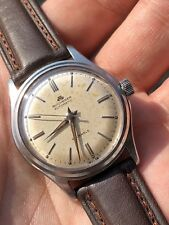 Vintage Bucherer Automatic Mens Watch Swiss Made All Steel Felsa 1560 33mm