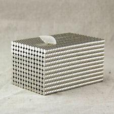 100 500pcs Tiny Disc 2x1mm Neodymium N50 Rare Earth Strong Magnets Craft Models