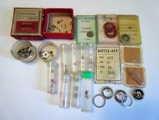 LARGE JOB LOT of VINTAGE WRIST WATCH PARTS FOR WATCHMAKER, REPAIRER new/old!