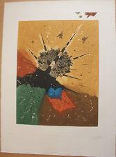 Gravure signée numérotée de Georges DUSSAU ciel fauve 1980 *