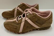 """DIESEL """"Cracker"""" Brown & Pink Suede Shoes"""