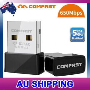 COMFAST Mini 802.11ac AC650 WiFi Wireless Adapter PC Laptop 5GHz Dual Band