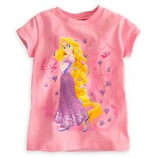 DISNEY STORE RAPUNZEL SPARKLING TOWERING TEE SIZE 5/6 NWT GLITTER ACCENTS