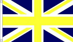 BLUE and YELLOW UNION JACK FLAG 5' x 3' Flags