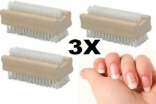 3 WOODEN-NAIL-BRUSH-FOR-MANICURE-amp-PEDICURE-SCRUBBING-CLEANING-BRISTLES