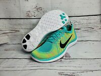 Nike Mens Running Shoes Multicolor Sneakers Free 4.0 Flyknit717075-300 Sz 10.5 M