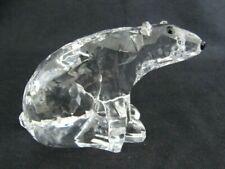 Clear Resin Polar Bear Figurine - Crystal Look