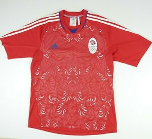 Adidas Team GB London Olympic Games Great Britain 2012 RED jersey Shirt adult L