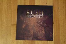Rush Chronicles 1990 Rare Record Store Promo Two-Sided Album Flat Art Poster