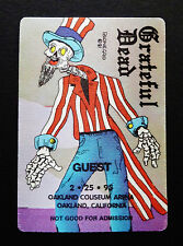 Grateful Dead Backstage Pass Reonegro Train Puzzle Pass Oakland 2/25/1995 Usa