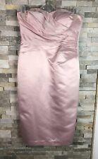 Debut Ladies Size 10 Strapless Elegant Pink Pencil Dress