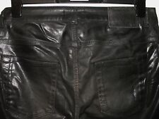 DIESEL BLACK GOLD TYPE 241 SKINNY FIT COATED LEATHER EFFECT JEANS W32 L30 (3848)