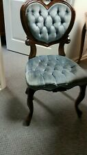 Victorian chair blue vintage used in photography studio