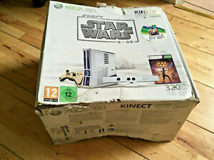 Xbox 360 Console 320GB Kinect R2D2 Star Wars Boxed C3PO Two Controllers Red Gold