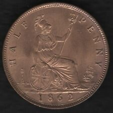 More details for 1862 victoria halfpenny coin   british coins   pennies2pounds