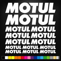 compatible MOTUL 14 Stickers Autocollants Adhésifs  Moto Voiture Sponsor Marques