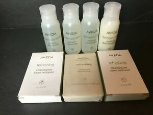 Aveda Rosemary Mint Travel Size 3 Shampoo 1 Conditioner 3 Cleansing Bar Lot
