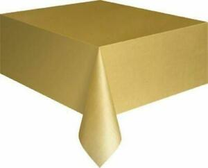 Rectangle Disposable Plastic Table covers Wipe Clean Party Table cloth Covers UK