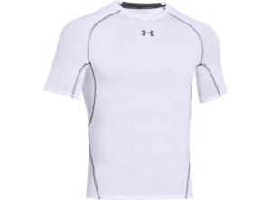 Under Armour 1257468 Men's White UA HeatGear Armour Compression T-Shirt, Small