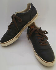 Polo Ralph Lauren HANFORD Brown Leather Sneakers Mens 11.5 D LaceUp Casual Shoes